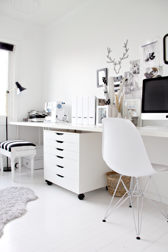 Le bureau noir et blanc de Nina de Stylizimo - Decocrush