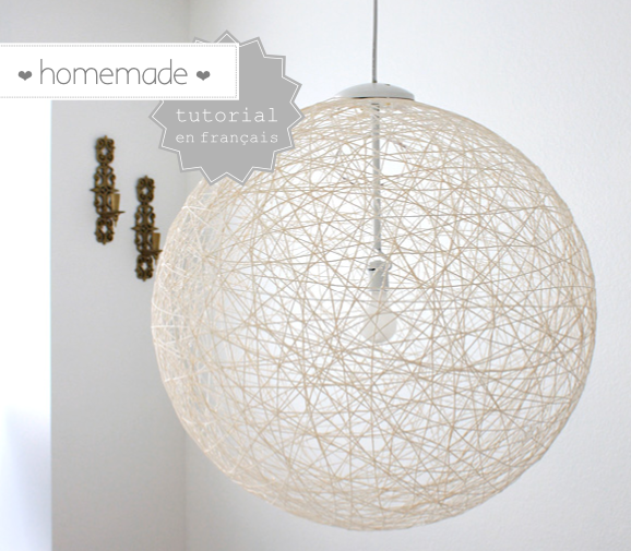 Diy de la laine pour une jolie lampe homemade decocrush - Creer sa suspension luminaire ...