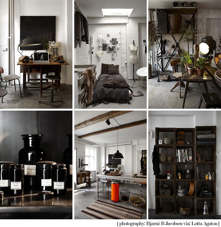 un petit bureau industriel en noir et blanc decocrush. Black Bedroom Furniture Sets. Home Design Ideas