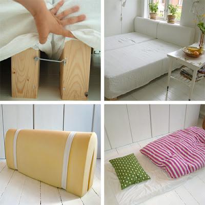 diy un canap convertible homemade decocrush. Black Bedroom Furniture Sets. Home Design Ideas