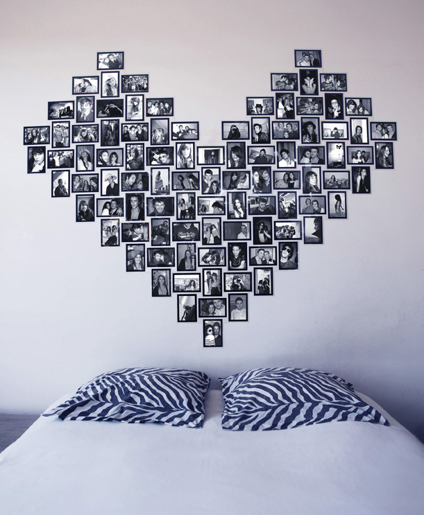 slimpy cadre photo sans clou ni vis grand coeur decocrush. Black Bedroom Furniture Sets. Home Design Ideas