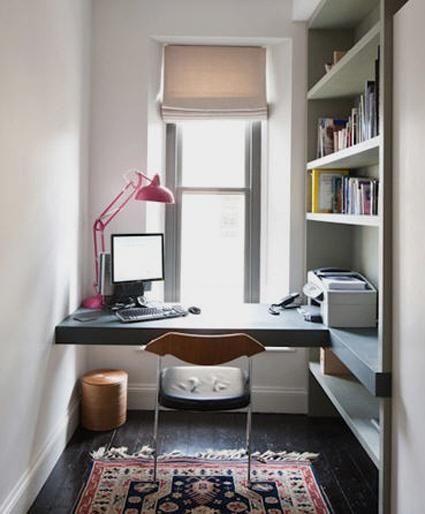12 id es d co insolites pour un petit bureau chez soi for Bureau pour petit espace