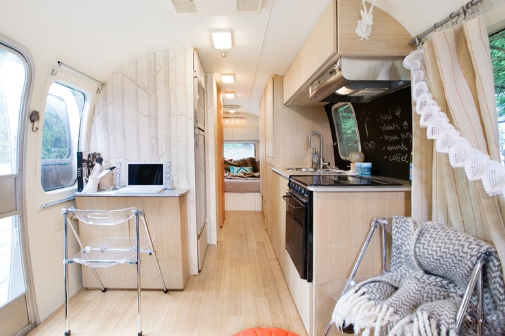 Airstream interior ideas on pinterest airstream airstream trailers and air - Petit bureau vintage ...