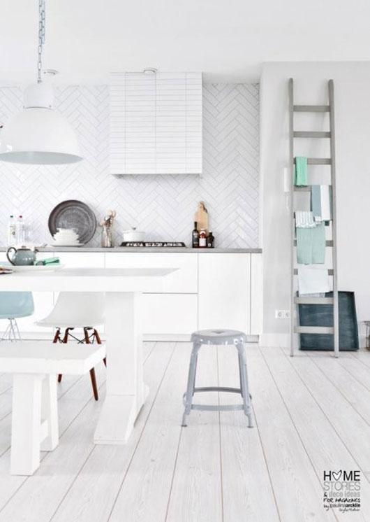 25 cuisines de r ve pour s 39 inspirer blanc decocrush - Reve ment muur woonkamer ...