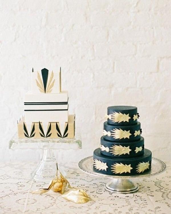 Art Deco Grooms Cake : Gatsby : Une decoration de mariage inspiree des annees ...