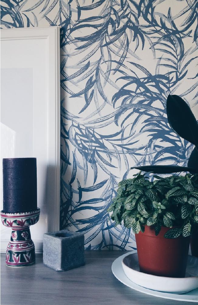 Un bureau dans une ambiance de feuilles de bambous à découvrir sur Decocrush.fr avec plein d'autres idées et tendances déco